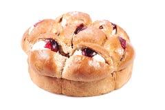 Raspberry jam and cream pastry Royalty Free Stock Photo