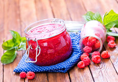 Raspberry and jam Royalty Free Stock Image