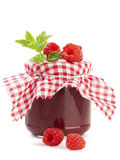 Raspberry Jam and fruits isolated Royalty Free Stock Images