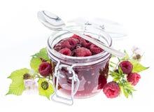 Raspberry Jam isolated on white Royalty Free Stock Image