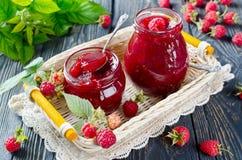 Raspberry jam Stock Photography