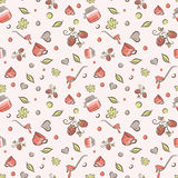 Raspberry jam pattern Royalty Free Stock Photo