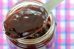 Raspberry jam with thyme Stock Image