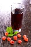 Raspberry juice Royalty Free Stock Image