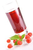 Raspberry juice. Glass of tasty and healthy homemade raspberry juice Stock Image