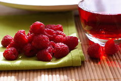 Raspberry and juice Royalty Free Stock Photo