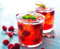 Raspberry juice cocktail Stock Images