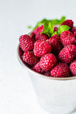 Raspberry juice. Juice from fresh rasberries with ice drink Royalty Free Stock Images