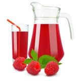Raspberry juice Stock Images