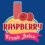 Raspberry juice sticker or label Stock Image