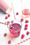 Raspberry juice Stock Photos