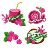 Raspberry label Background Vector illustration. royalty free illustration
