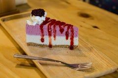 Raspberry layer cake Royalty Free Stock Photo