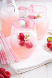 Raspberry lemonade in a glass Royalty Free Stock Photography