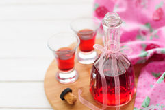 Raspberry Liqueur royalty free stock images