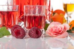 Raspberry liqueur Stock Image