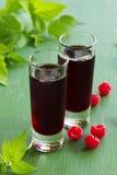 Raspberry liqueur Stock Photo