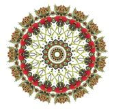 Raspberry mandala. Red raspberry mandala Royalty Free Stock Photos