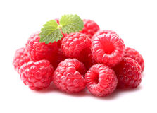 Raspberry with melissa. Ripe raspberry with melissa leaves Royalty Free Stock Photography