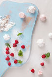 Raspberry  meringue kisses Royalty Free Stock Image