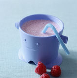 Raspberry milk Royalty Free Stock Images