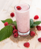 Raspberry Milkshake Stock Images
