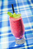 Raspberry milkshake Stock Photography