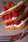 Raspberry mille feuille Royalty Free Stock Images