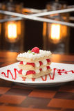 Raspberry mille feuille Stock Images