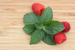 Raspberry and mint Royalty Free Stock Photo