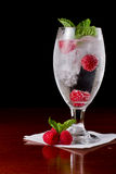Raspberry mint water Stock Image