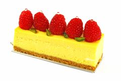 Raspberry Mousse Cake royalty free stock photography