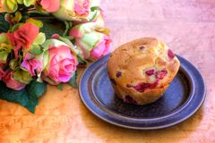 Raspberry Muffin Royalty Free Stock Photo
