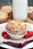 Raspberry Muffin Stock Photos