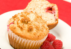 Raspberry Muffins Stock Photo