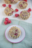 Raspberry Muffins Stock Photos