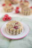 Raspberry Muffins. Home made Raspberry Muffins with poppy seeds Stock Images