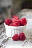 Raspberry on old wood Stock Image
