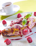 Raspberry omelet Royalty Free Stock Photo