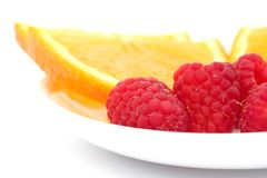 Raspberry and orange Royalty Free Stock Photos