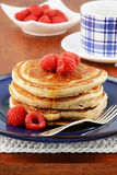 Raspberry pancakes Royalty Free Stock Photo