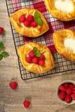 Raspberry pastries Royalty Free Stock Image