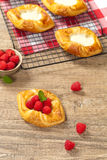Raspberry pastries Royalty Free Stock Images