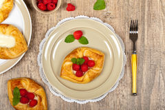 Raspberry pastries Royalty Free Stock Photography