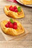 Raspberry pastries Royalty Free Stock Photos