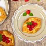 Raspberry pastries Stock Photography