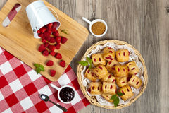 Raspberry pastries Royalty Free Stock Photo