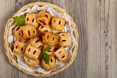Raspberry pastries Stock Image