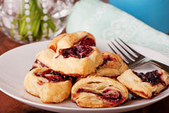 Raspberry Pastries Freshly Baked Royalty Free Stock Image