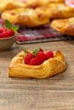 Raspberry pastries Stock Images